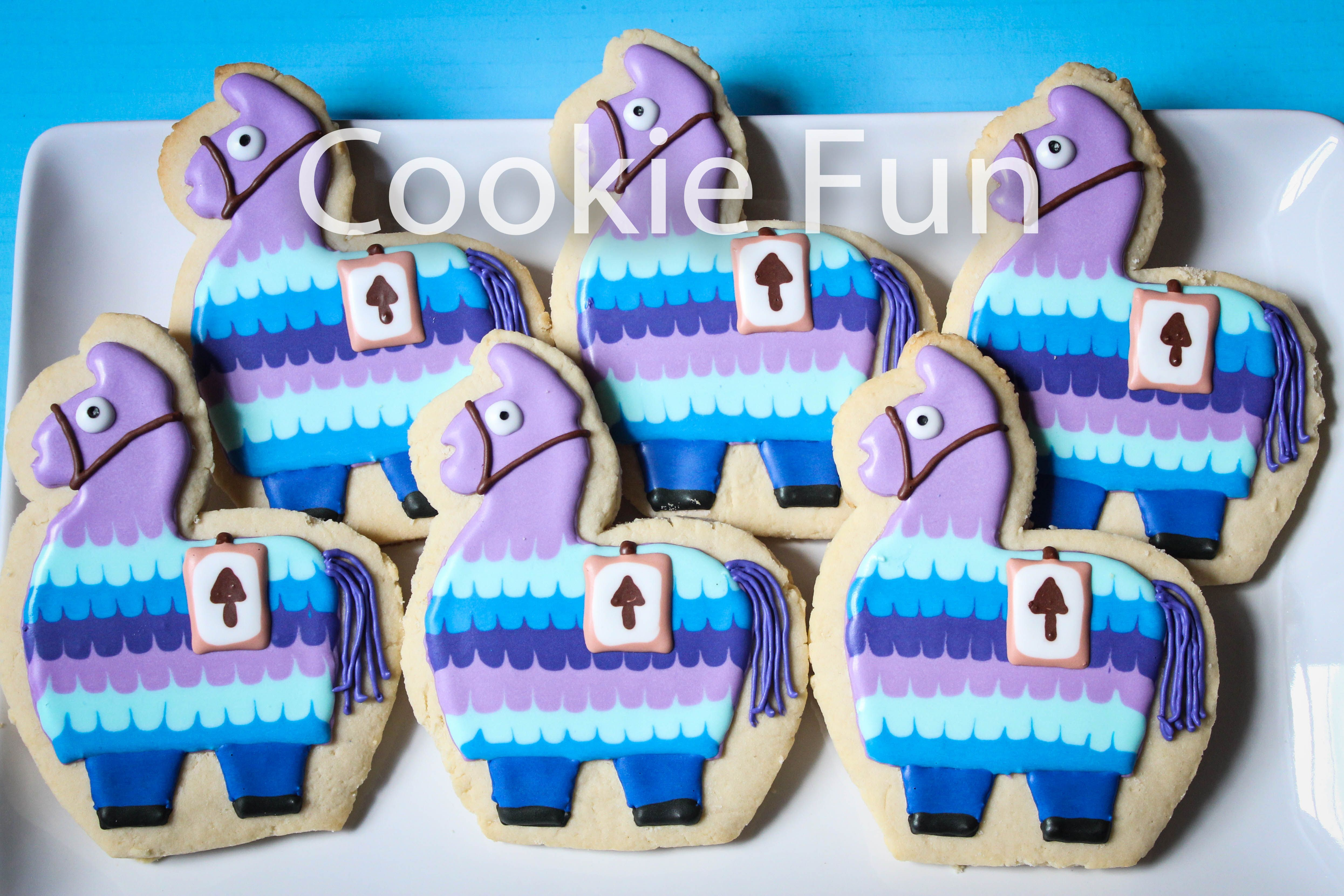Fortnite llama cookies birthday cookies monster cookies