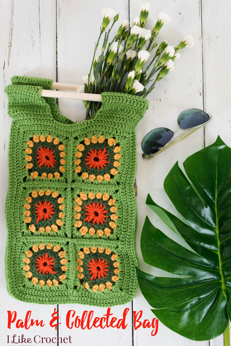 Use Granny Squares In A New Way Crochet Bag Pattern With Dowel