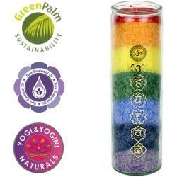 Chakra Kerze Multicolor Yogaboxyogabox Kerzen Chakra Und Yoga Box