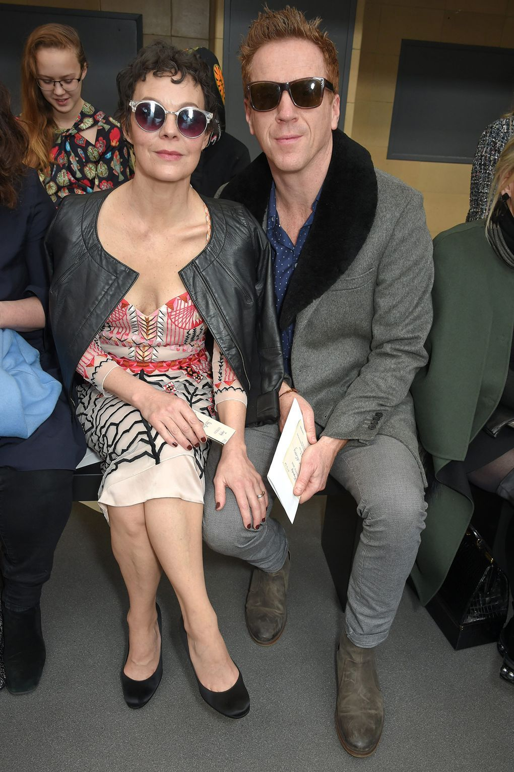 Helen Mccrory Leaving helen mccrory and damien lewis in 2019 | fashion, front row