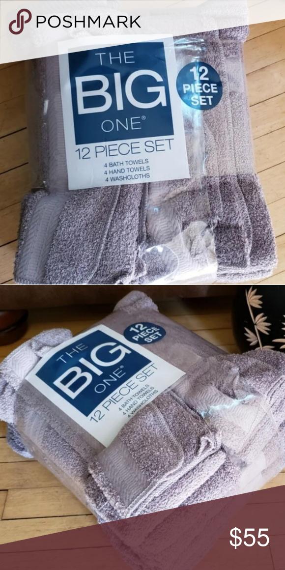 The Big One 12pc Bath Towel Set Grey The Big One 12pc Value Set
