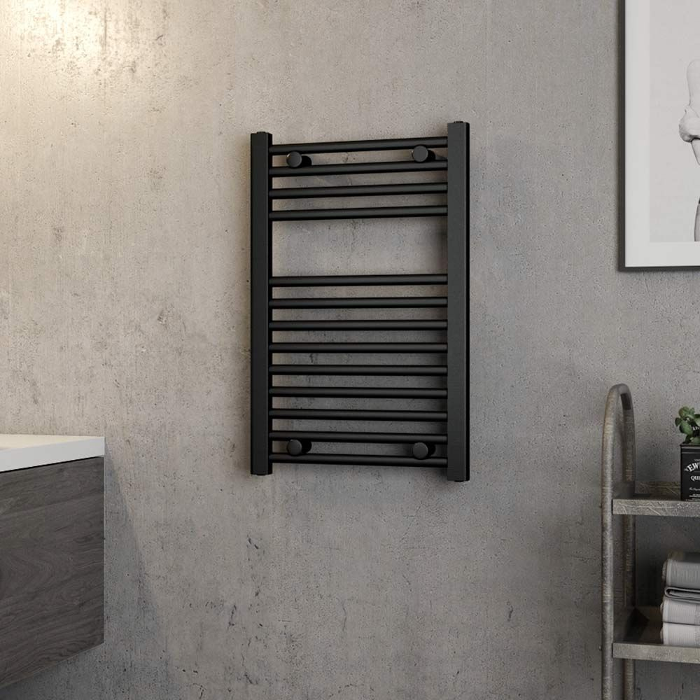 System Compatibility Central Heating Or Dual Fuel In A Matt Black Finish Btu At Delta T50 C 928 Heated Towel Rail Heated Towel Towel Radiator