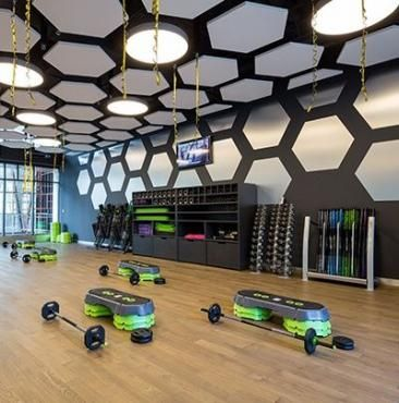 Fitness gym interior lights ideas fitness fit fit fitness