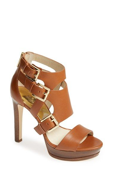 4ccb542e139d MICHAEL Michael Kors  Lucinda  Sandal (Women). Gleaming buckles and bold  straps style a striking sandal lifted by a soaring stiletto heel.