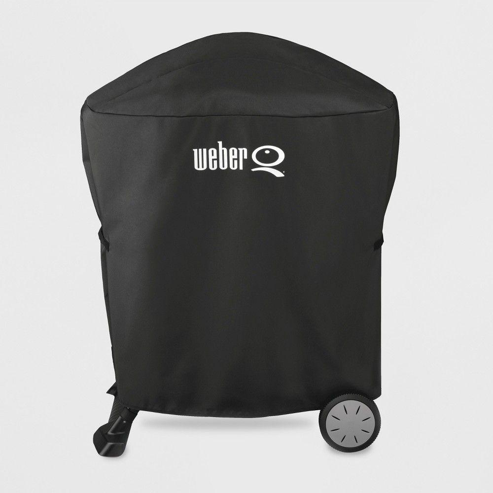 Weber Q100 1000 Q200 Q2000 Premium Grill Cover Black In 2020 Weber Grill Cover Grill Cover Gas Grill Covers