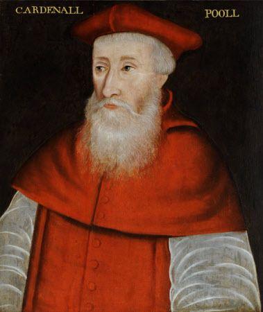 Reginald Pole (1500-1558) Cardinal and Archbishop of Canterbury. King Henry VIII of England financed his studies. Portrait by British *English* School, 16th century