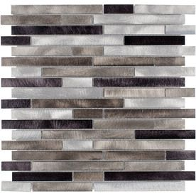 Elida Ceramica Champagne Mix Linear Mosaic Metal Wall Tile Common 12