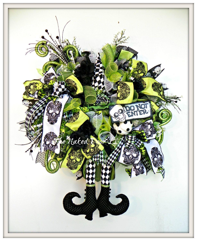 Halloween Wreath Halloween Witch Wreath Halloween