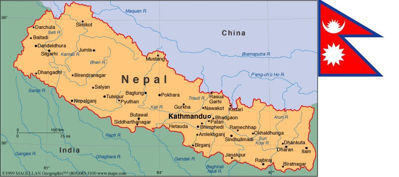 Map of nepal nepal pinterest nepal sciox Gallery