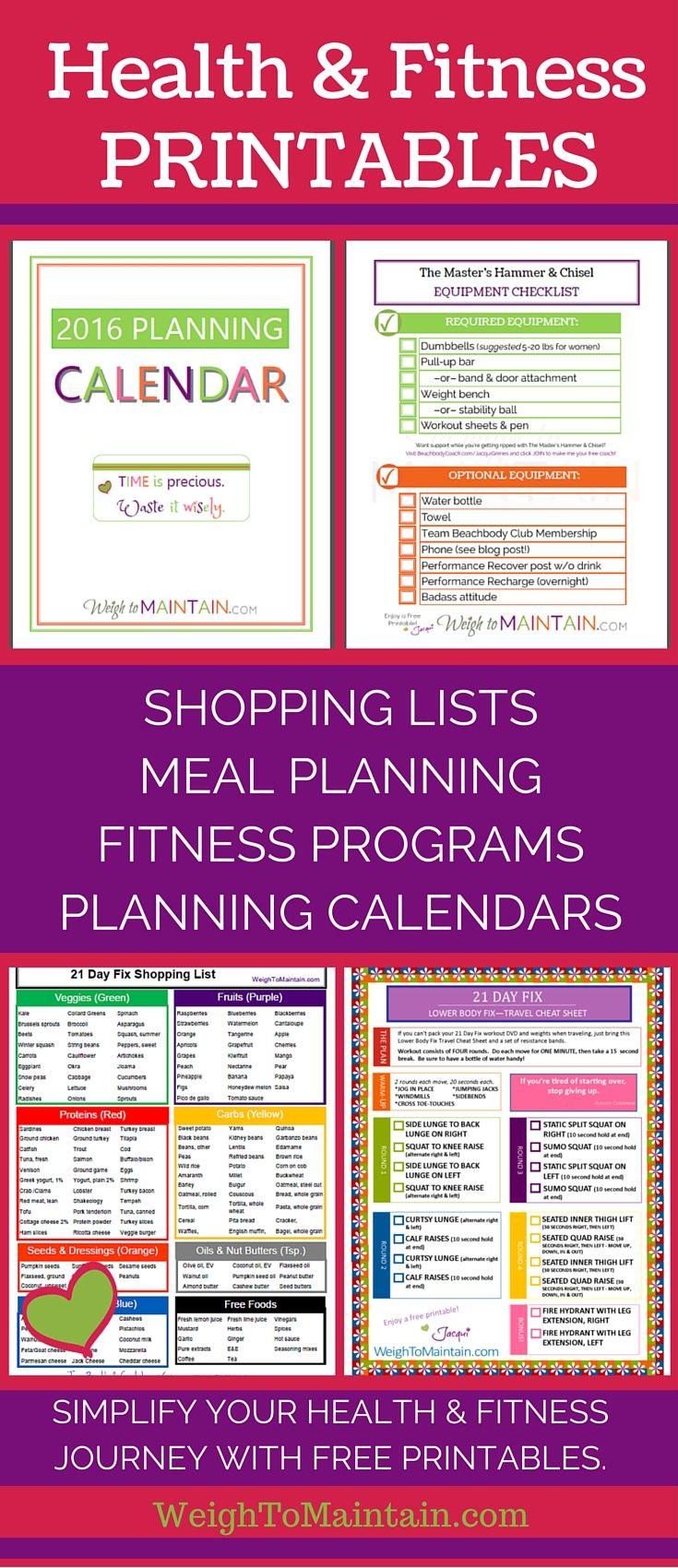 free health planner