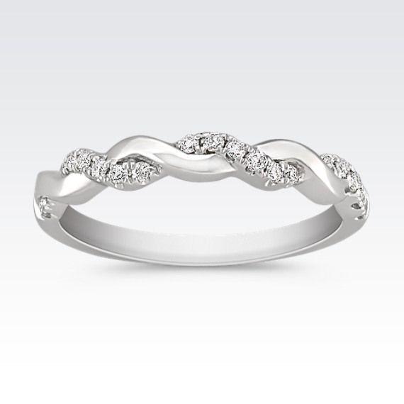 Interwoven Diamond Gold Infinity Wedding Band Diamond Wedding Bands Infinity Wedding Band Infinity Ring Wedding