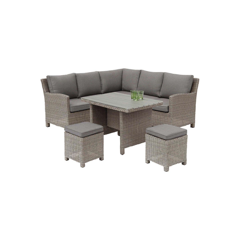 e42b4f39b46c BuyKETTLER Palma 6 Seater Garden Mini Corner Table and Chairs Set, Rattan  Online at johnlewis