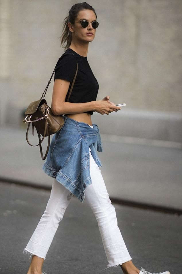 2f1276d63f Alessandra Ambrosio wearing Golden Goose Superstar Low Top Sneakers and  Chloe Faye Backpack