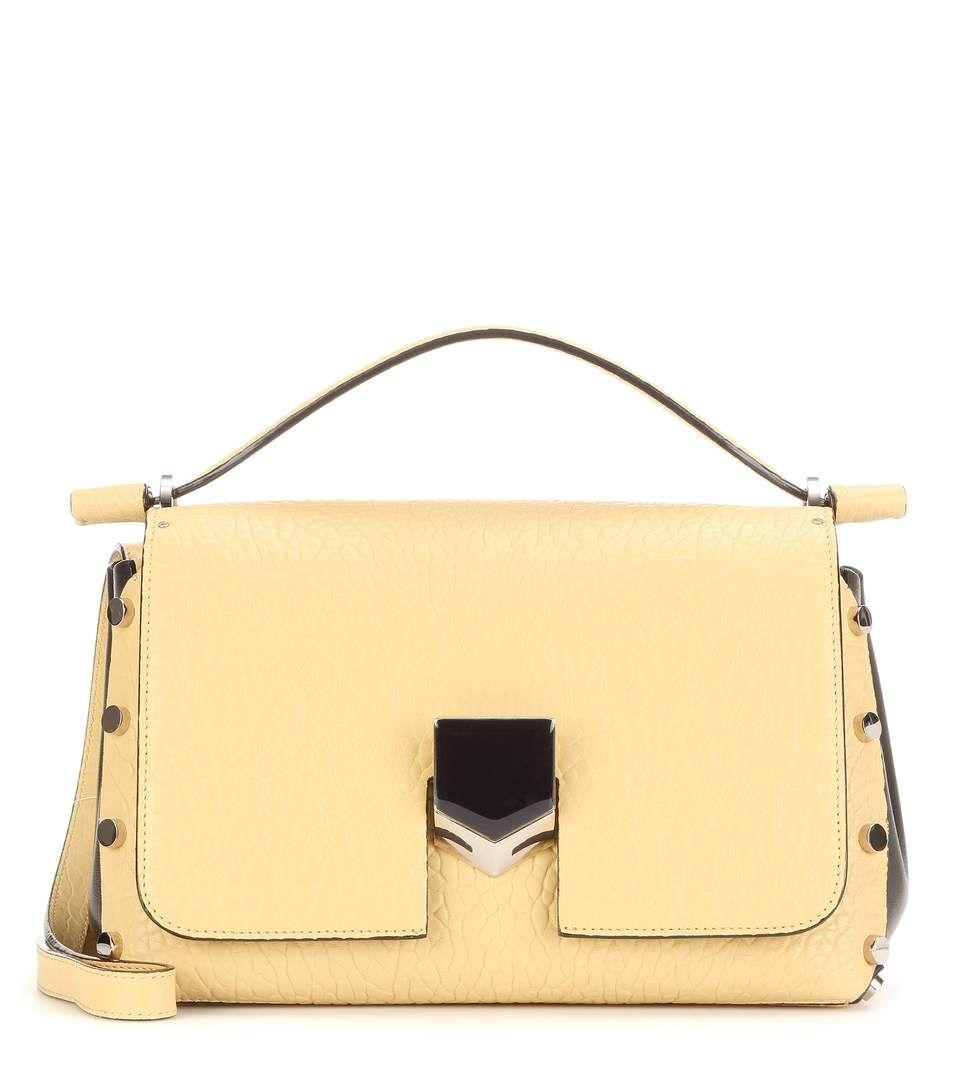 JIMMY CHOO Lockett Leather Shoulder Bag. #jimmychoo #bags #shoulder bags #lining #suede