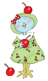 deariedolls.quenalbertini: Birdie and cherries | Dearie Dolls Digi Stamps