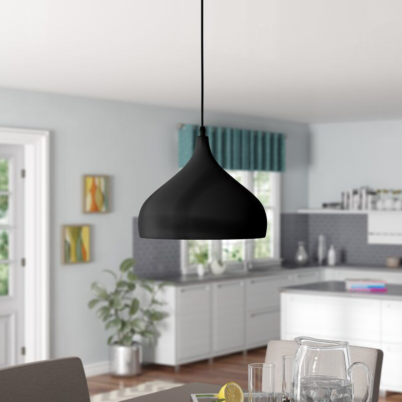 Brantner 1 Light Single Teardrop Pendant Black Pendant Light Kitchen Black Pendant Light Light