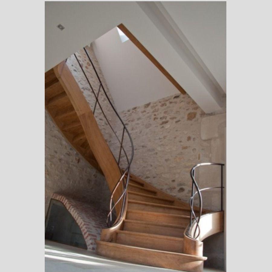 d couvrir sur zelip escalier courbe la fran aise inspir du 19e si cle d part double. Black Bedroom Furniture Sets. Home Design Ideas
