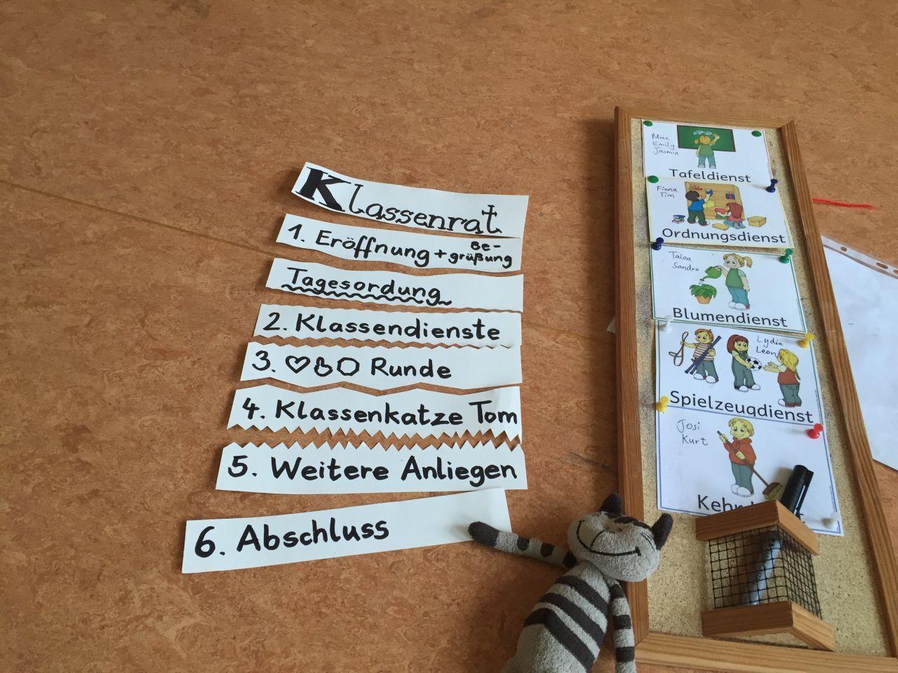 Ordnungsdienst klassenzimmer  Wir halten Klassenrat   Carl-von-Linné-Schule   Schule   Pinterest ...