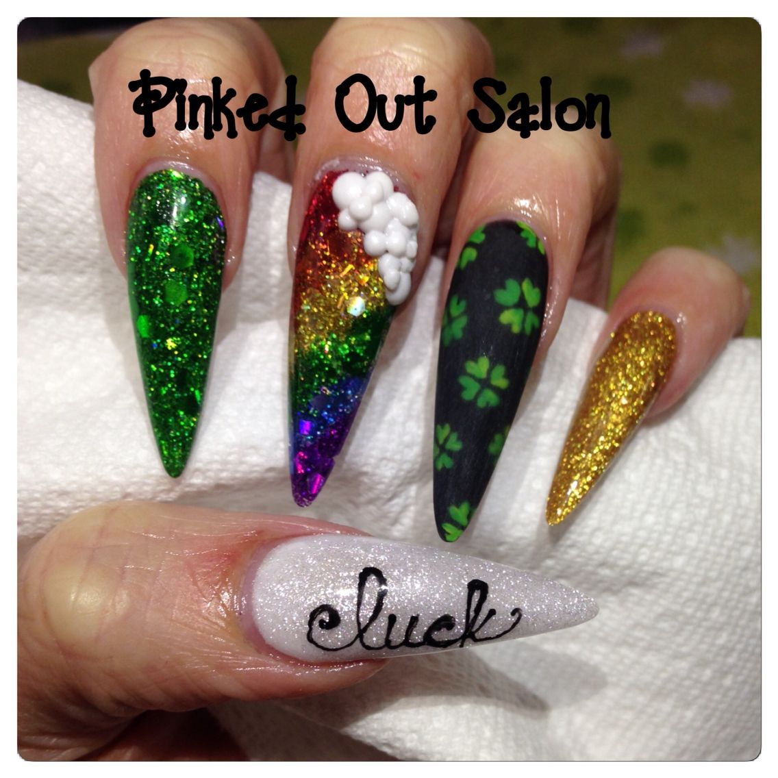 St Patrick S Day Nail Art Check Out Pinked Out Salon On Fb
