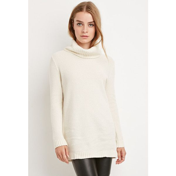 Forever 21 Forever 21 Women's Chunky Knit Turtleneck Sweater ($28 ...
