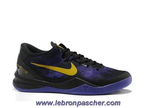 half off 5d761 97df7 Nouveau Lakers Nike Zoom Kobe VIII Pourpre Jaune