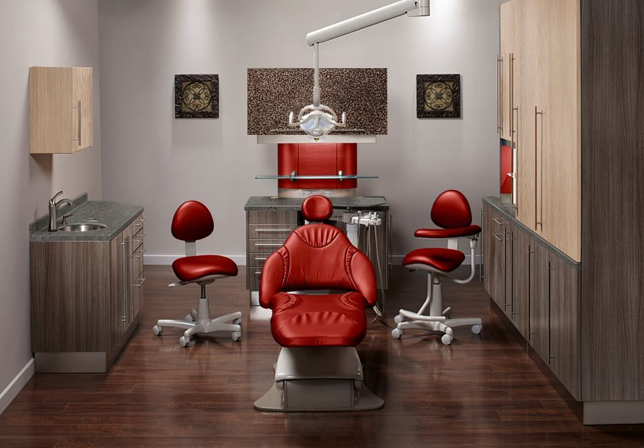 Dental office designed using Midmark's color selector