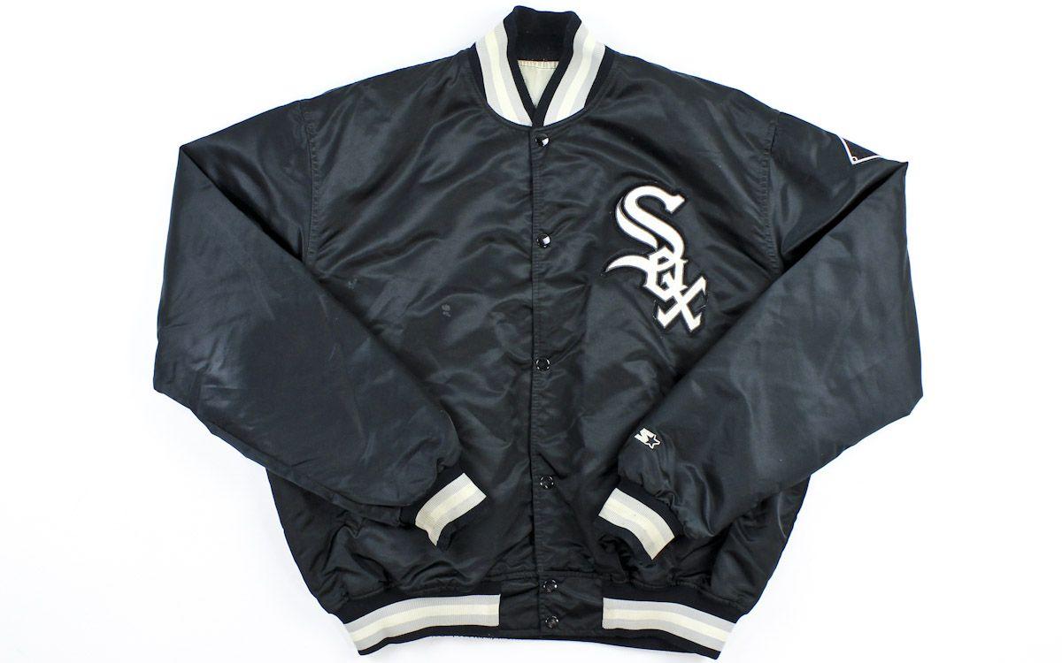Vintage Satin Starter Chicago White Sox Jacket Sz Xl Jackets Satin Jackets Clothes Design [ 750 x 1200 Pixel ]