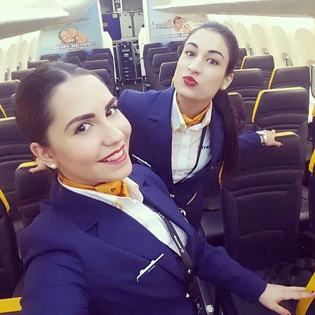 Instagram Photo By Airlines Crew Apr 25 2016 At 7 53am Utc Ryanair Cabin Crew Fly Girl