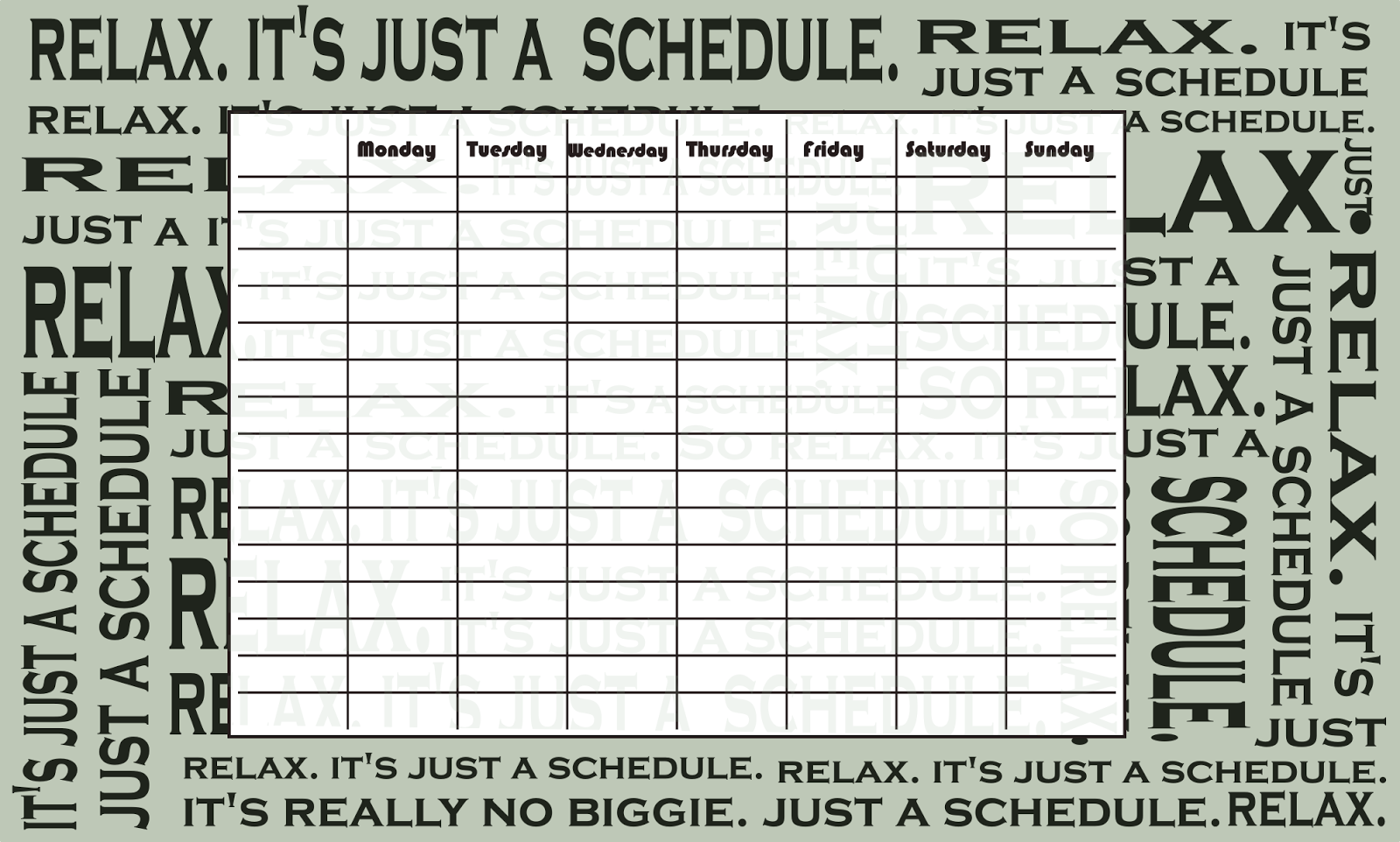 Free Printable Timetables And Weekly Planners  Ausdruckbare