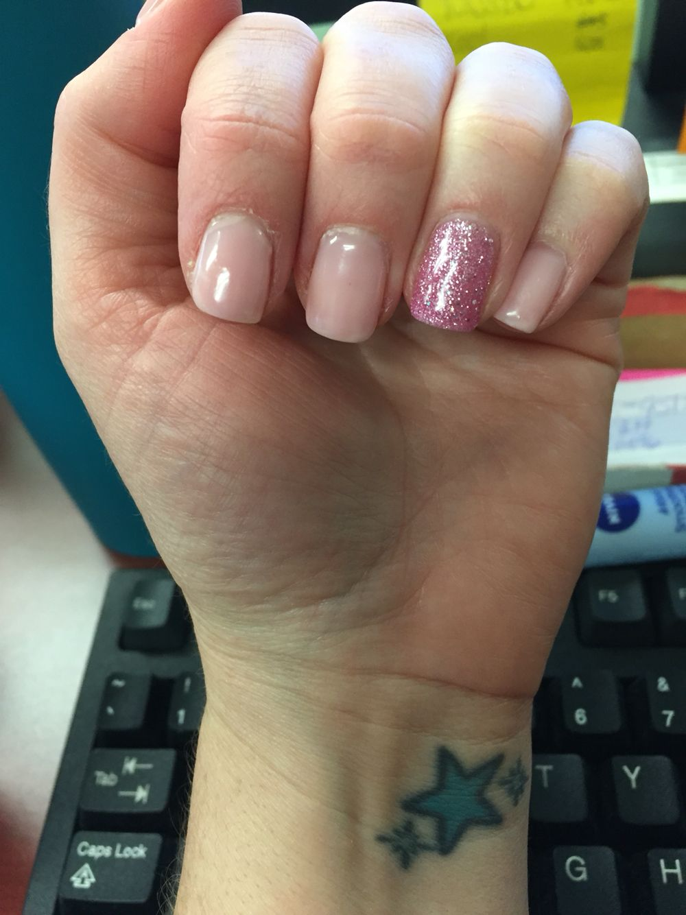 Pink Gel Nail Color Dnd First Kiss