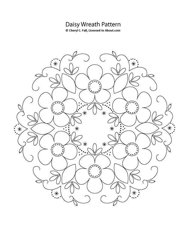1 corona de flores   bordados   Bordado, Dibujos para bordar y Patrones