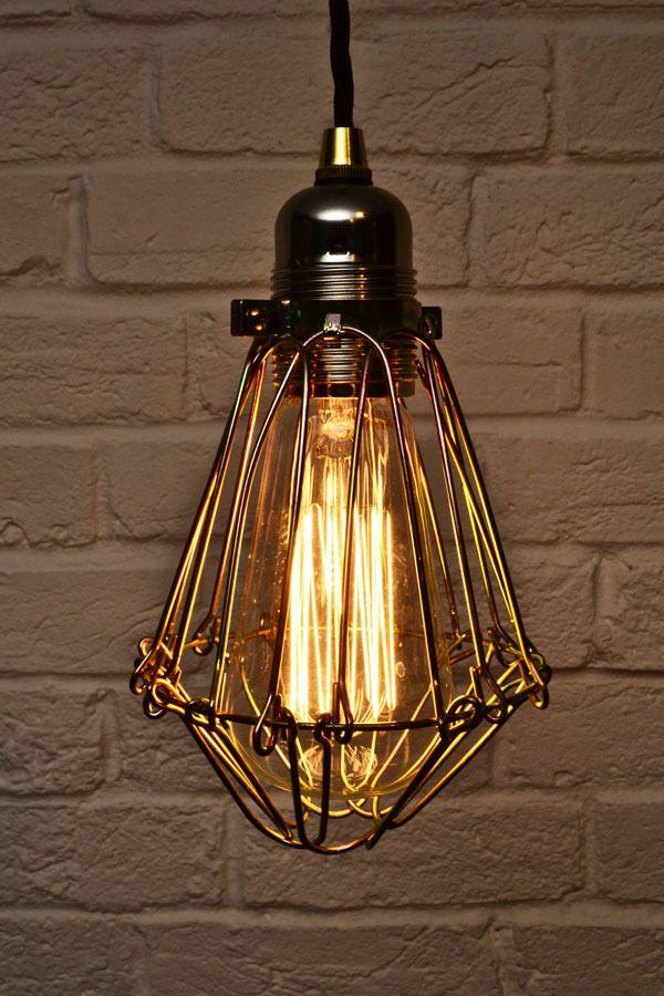 edison industrial cage pendant light by artifact lighting design