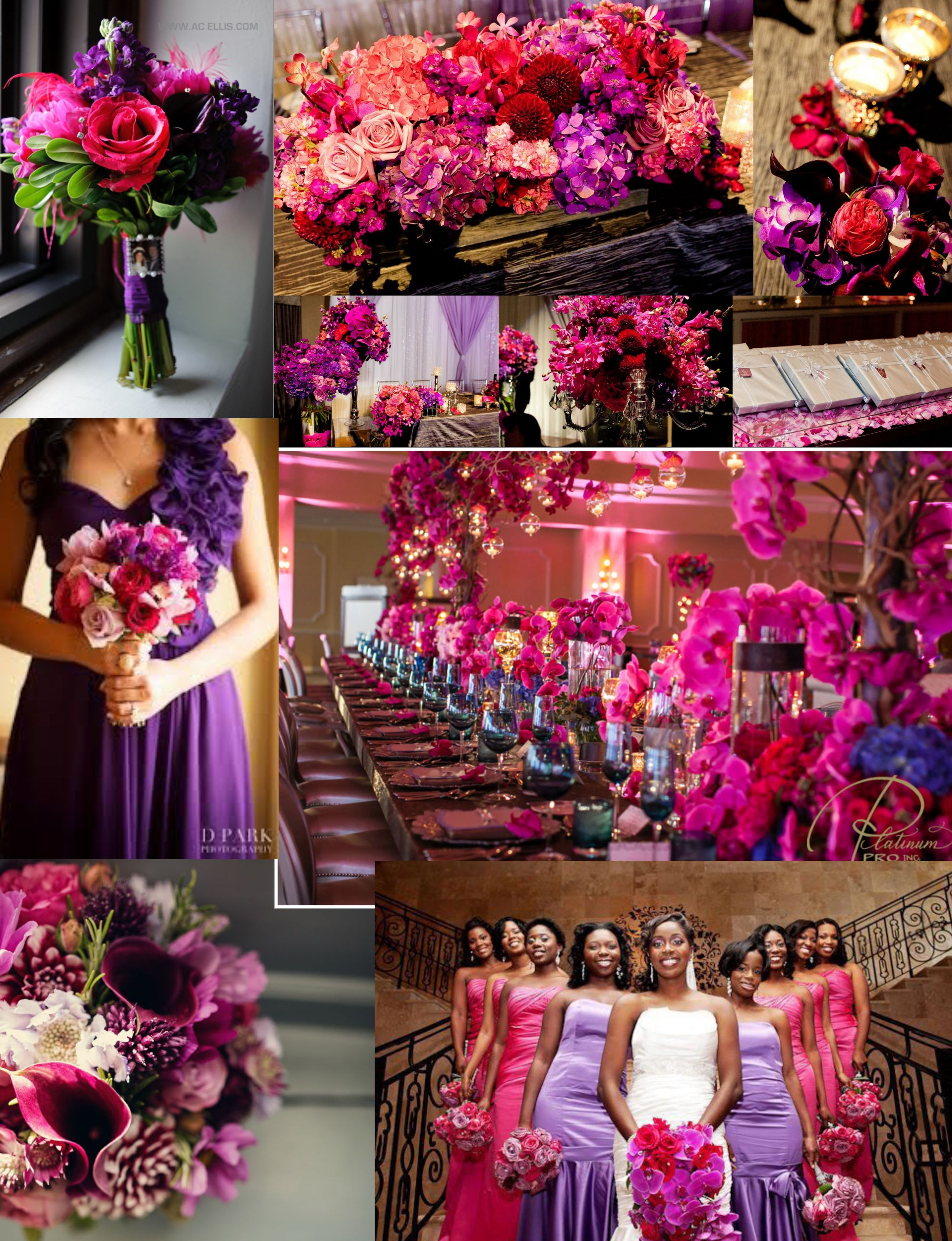 pink, purple and red inspiration page in 2019 | pink wedding