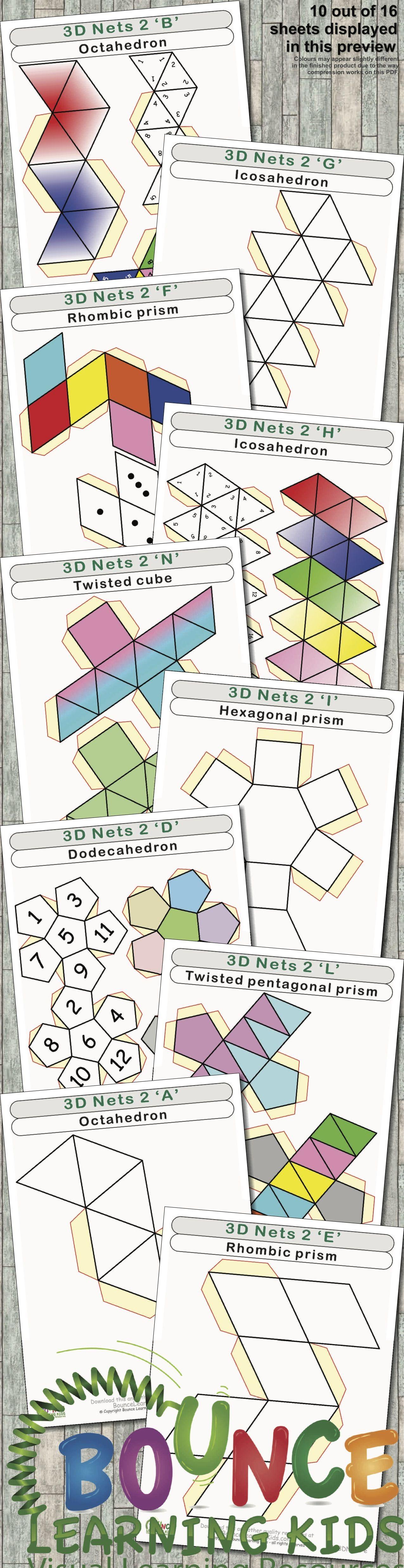 3d Nets 2 16 Hand Eye Coordination Sheets