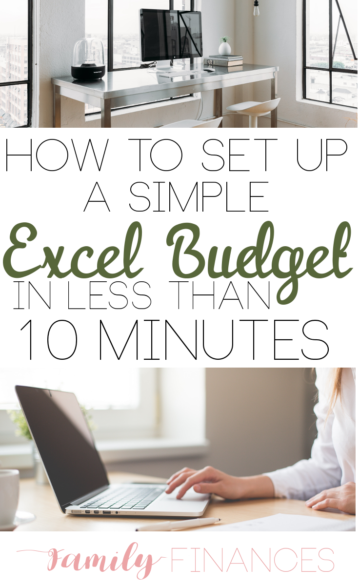 setting up a basic budget in excel light bulb pinterest