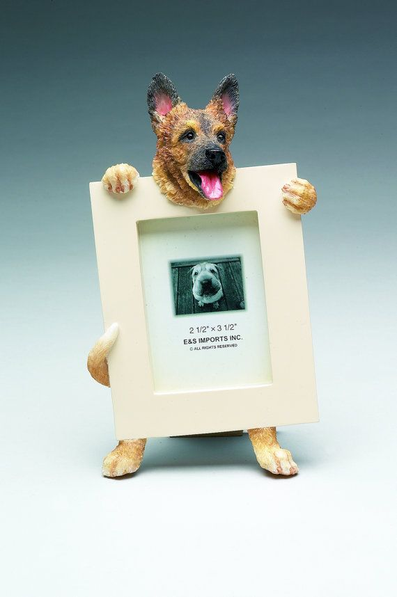 German Shepherd Picture Frame Makes A Perfect Gift For Shepherd Lovers Hand Painted Holds A 2 1 2 X Products Dog Picture Frames German Shepherd Pictures