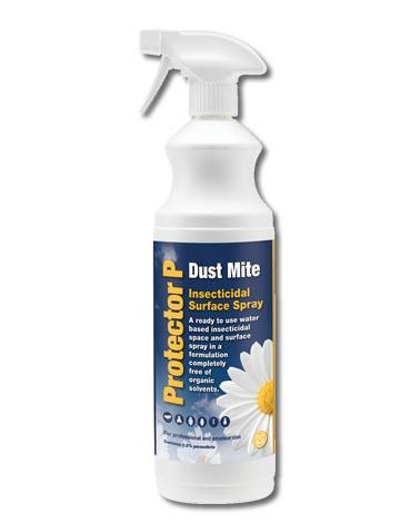 This Dust and Carpet Mite Trigger Spray is a professional product, suitable for amateur use from Barrettine. Effective against a wide range of insects with no staining or smell once dry.