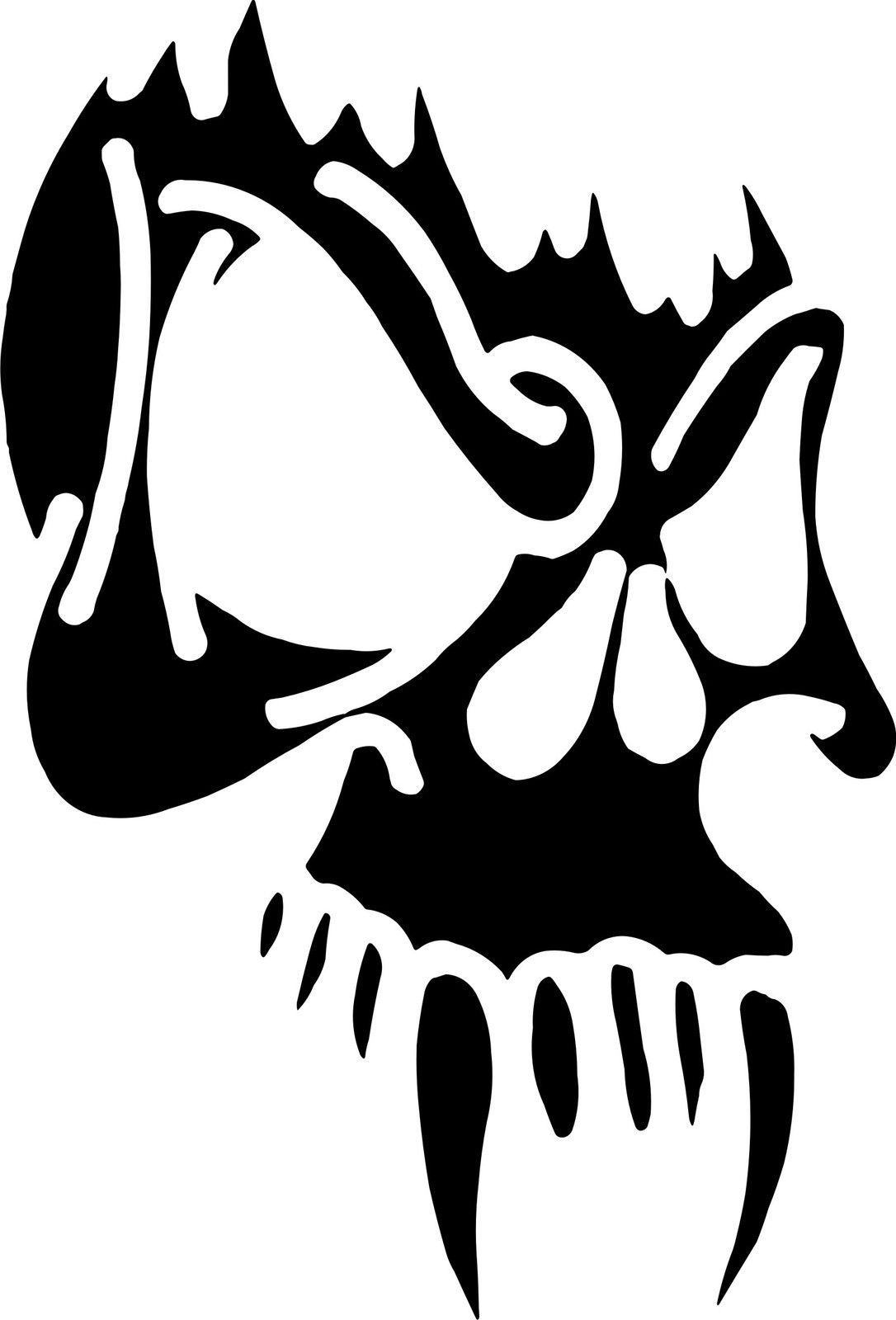 £3 gbp vampire skull sticker car bike wall window colour amp