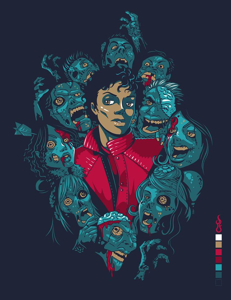 Jaw dropping vector portrait Illustrations