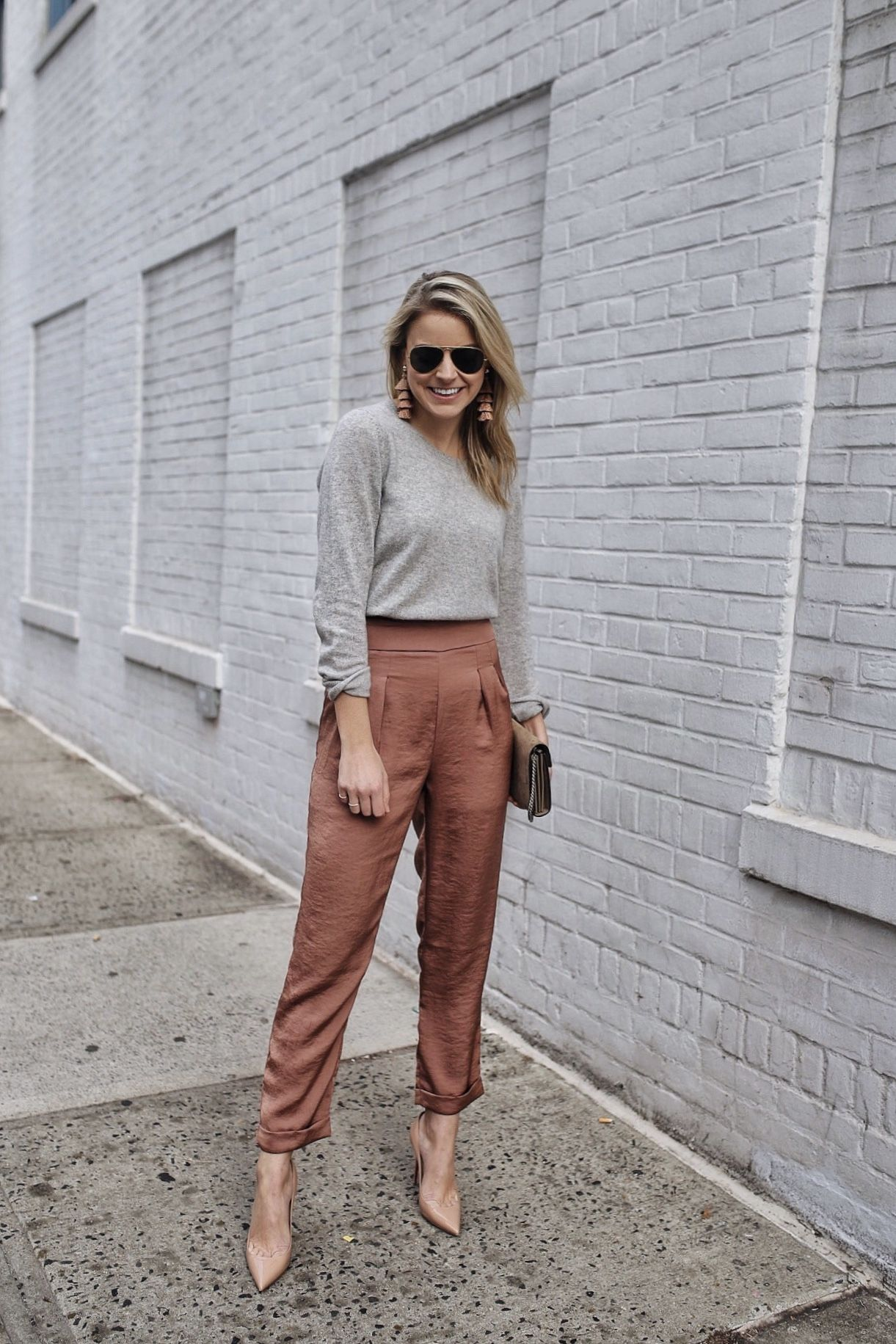 57e84fce0 How to Style Satin Pants for Date Night