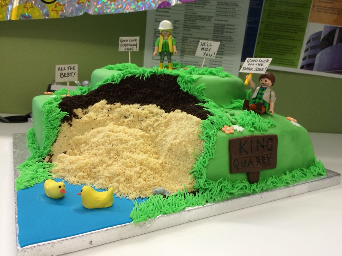 Quarry Cake For A Planning Professional