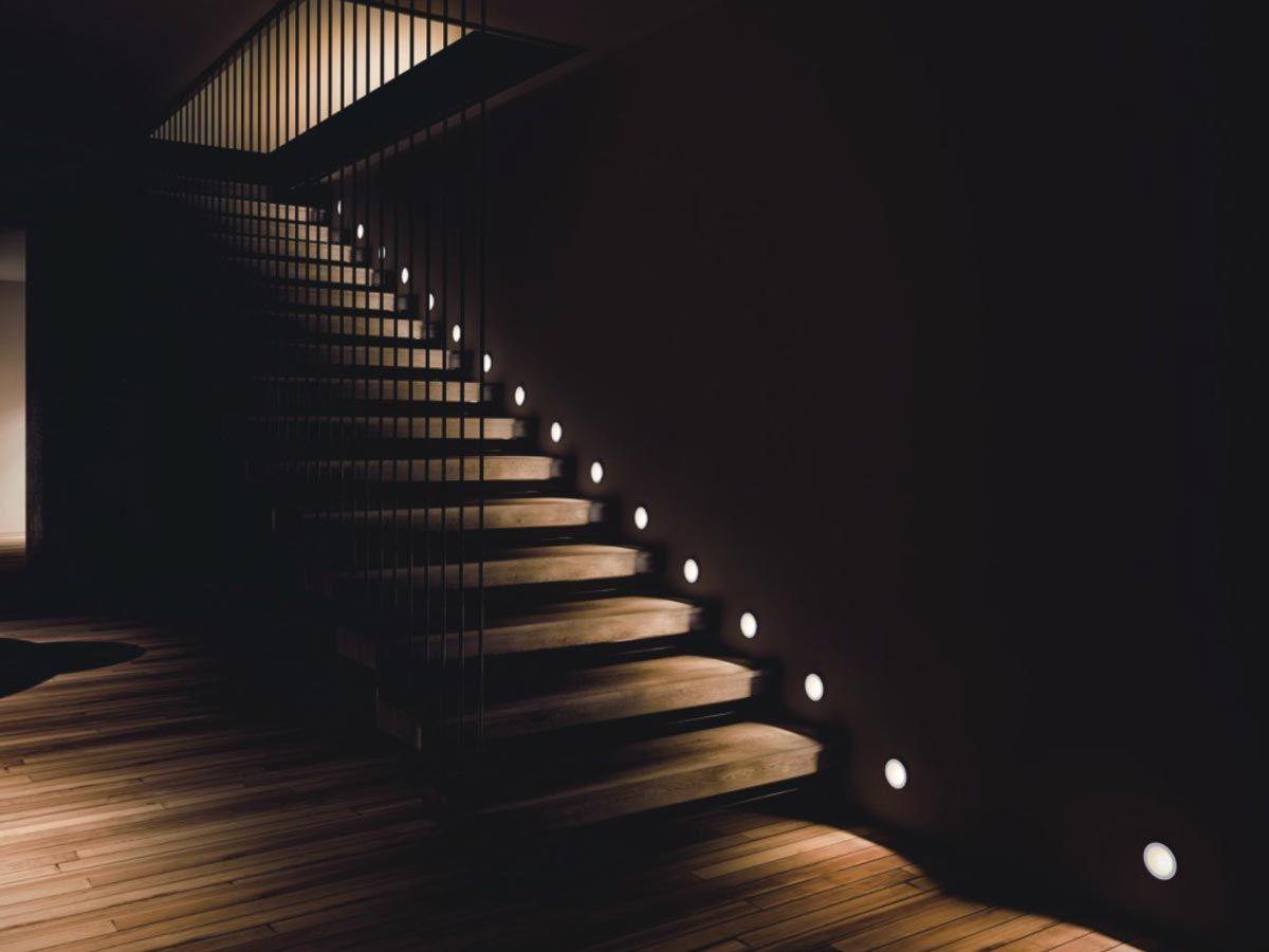 Snow Staircase Spotlight ديكور الاضاءة الحديثة للفيلا في