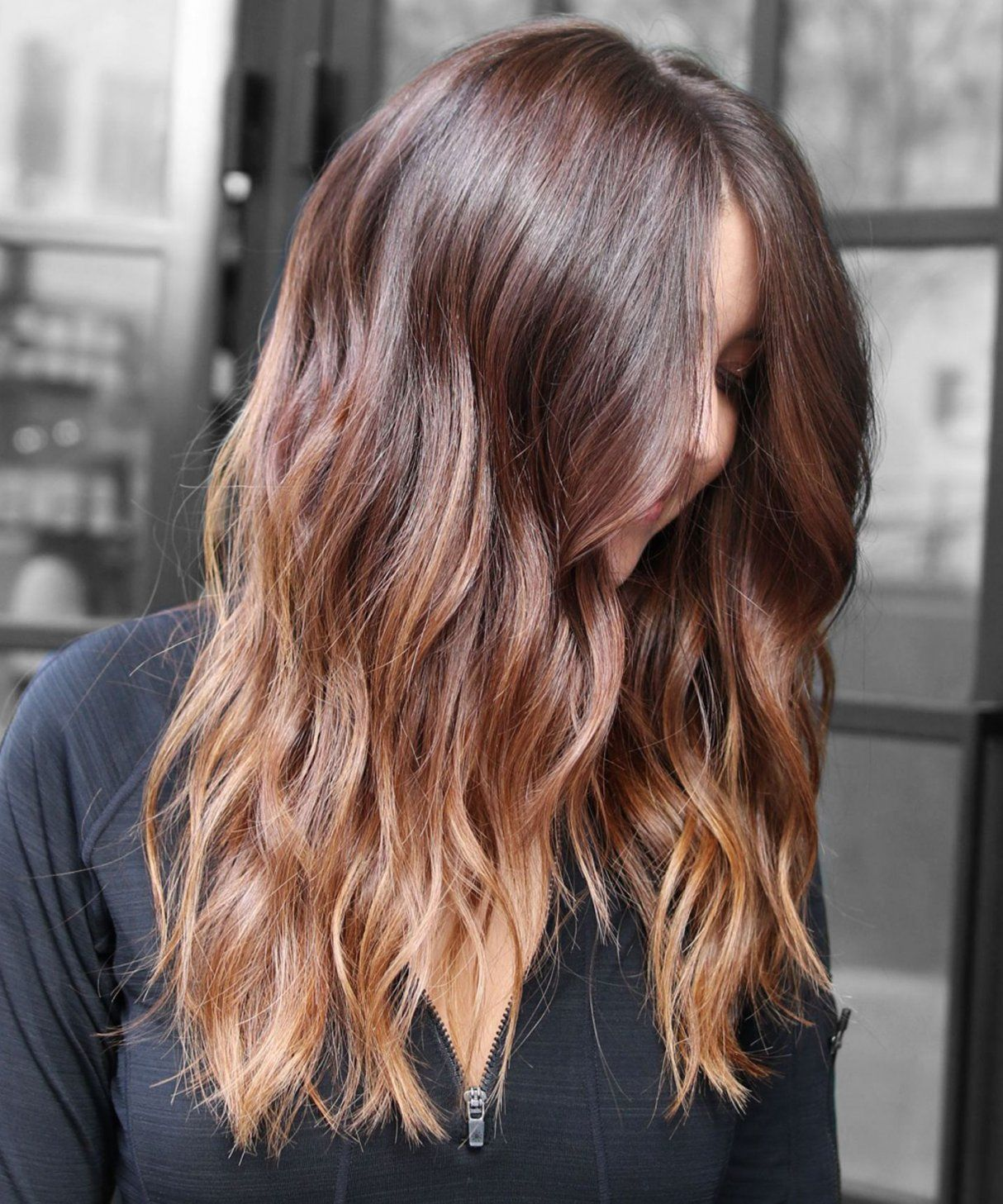 Balayage Brown Glatt