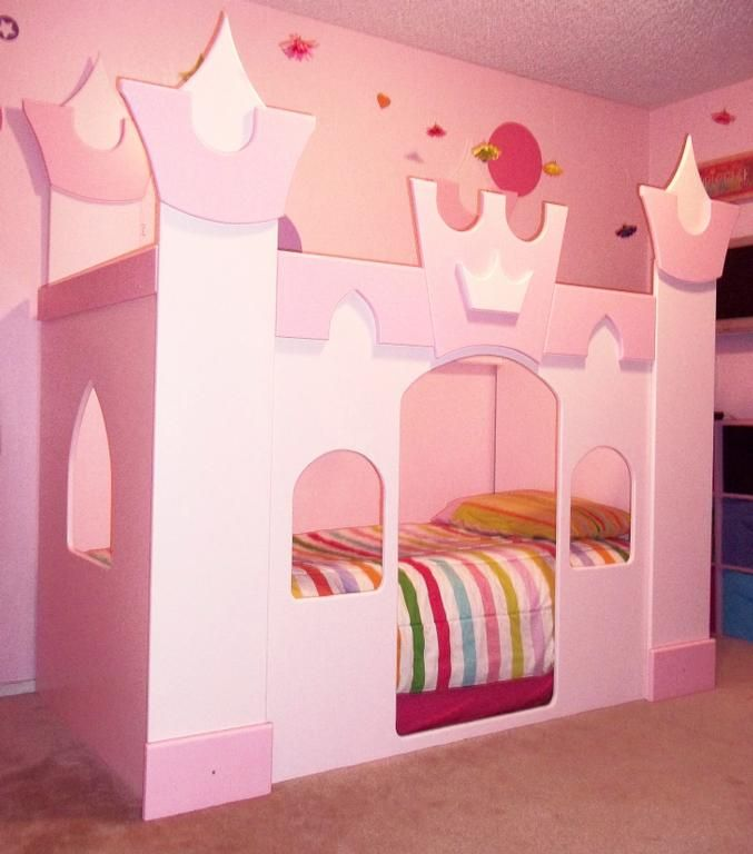Petite princess castle bed provided by neverland for Castle kids room