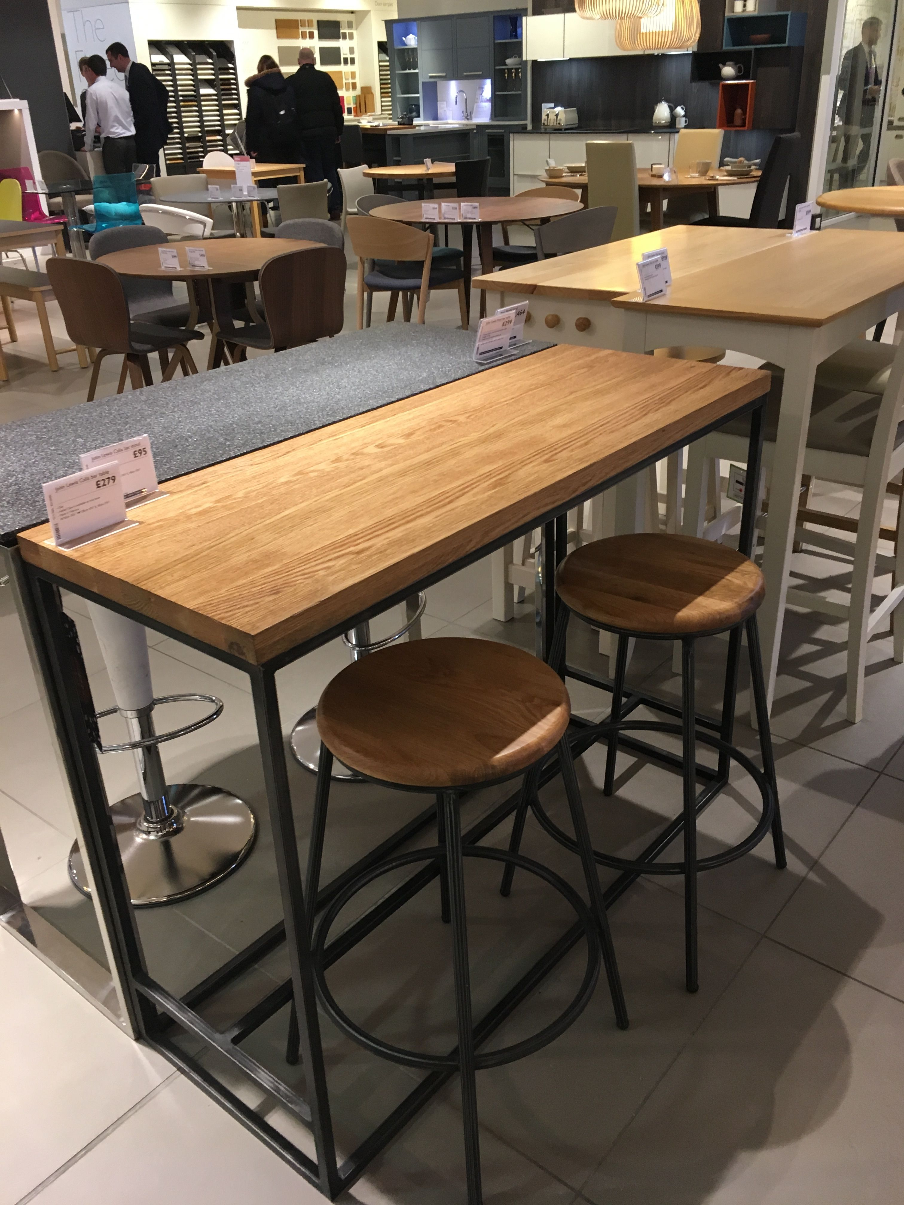 calia bar table from john lewis for kitchen | bank cottage