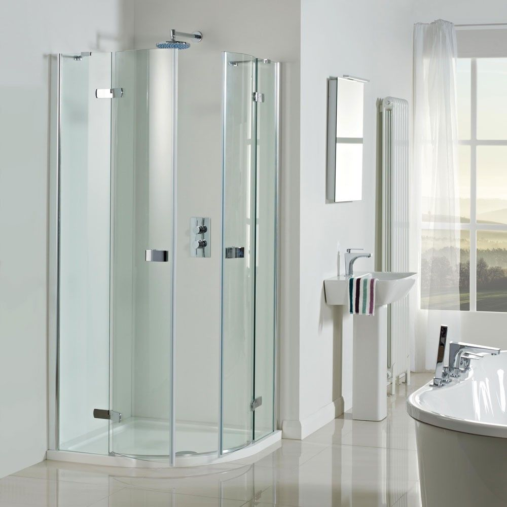 Vision 8mm 900mm Frameless Pivot Door Quadrant Shower