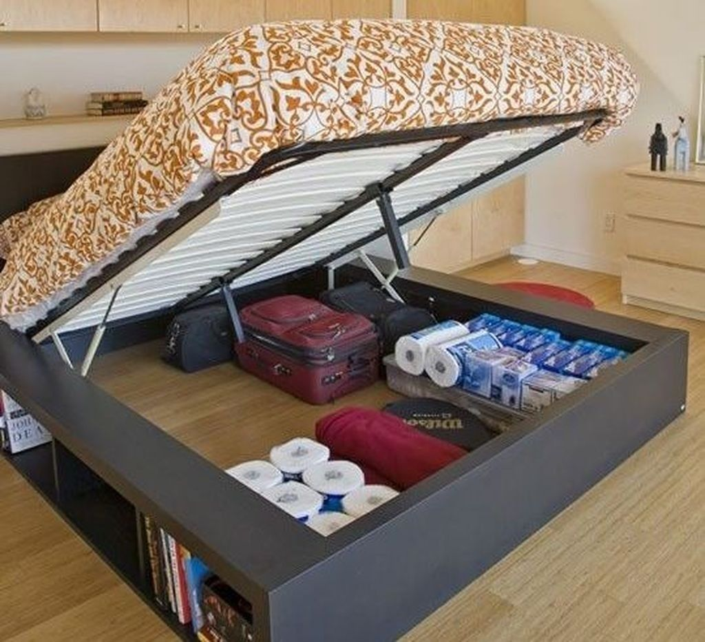 10+ Remarkable Hidden Storage Ideas For Bedroom Spaces - Page 10
