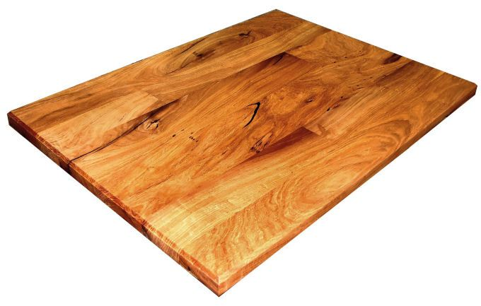 Kitchen Island With Butcher Block Top Mesquite Face Grain Randomly Jointed Boards