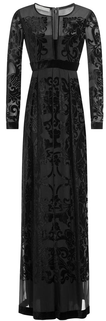 black mesh & velvet gown <3
