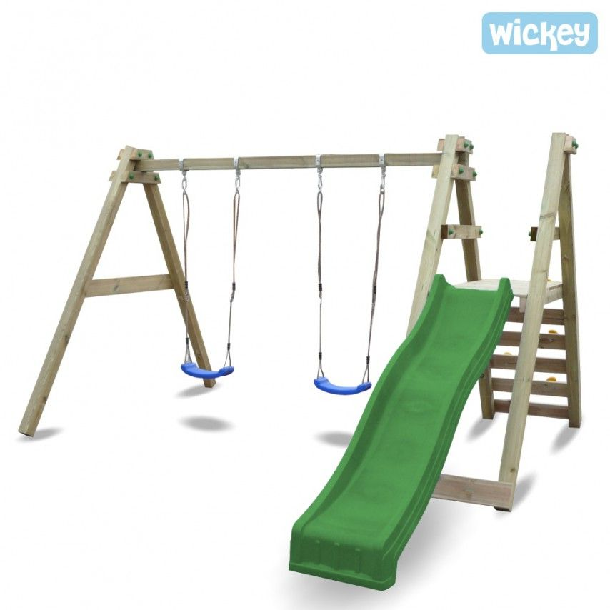 Swing set Wickey SkyGlider   Childrens swings, Wooden swings and Swings